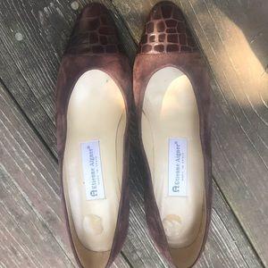 """Etienne Aigner brown suede """"Ann Marie"""" heel"""